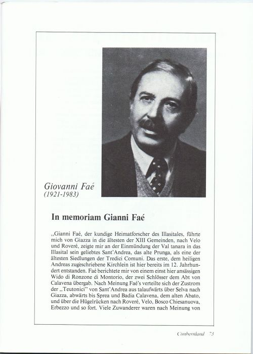 In memoriam Gianni Faé